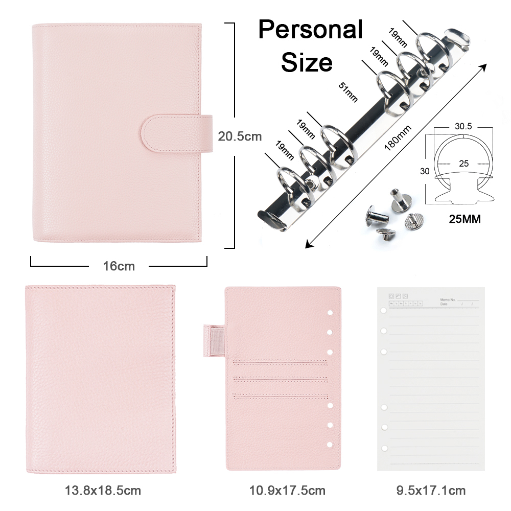 Moterm Personal Versa Planner with 25 mm Rings Litchi Style Multifunctional Agenda Organizer Diary Journal Notepad Sketchbook 2