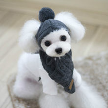 Winter Warm Soft Knitted Pet Hat Scarf Set Cotton Cats And Dogs Supplies Fun Cute Lively Decorative Dog Hat Puppy Accessories(China)