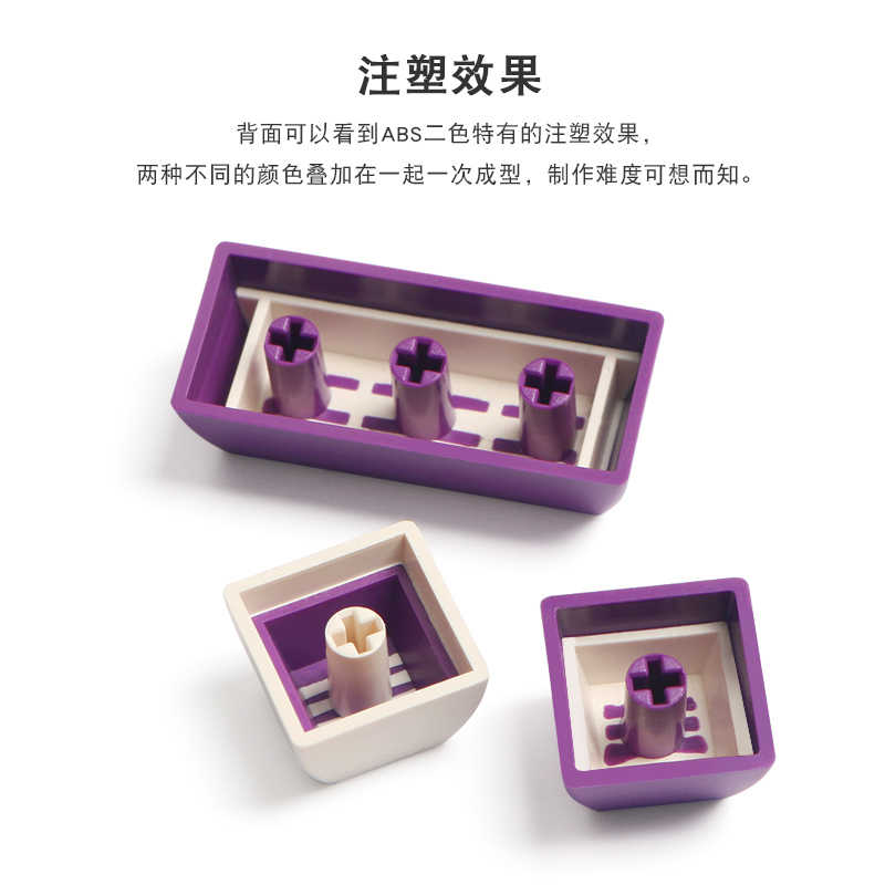 Keyboard keycaps Purple White Matching Keycap SA Dual Lens ABS Keycap MX Switch Mechanical Keyboard 134 Keys Color : 134 Keys