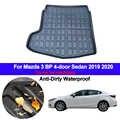 Auto Hinten Boot Cargo-Liner Fach Gepäck Matten Für Mazda 3 BP 4-tür Limousine 2019 2020 Matten Teppiche pad Teppich Abdeckung Anti-schmutzig