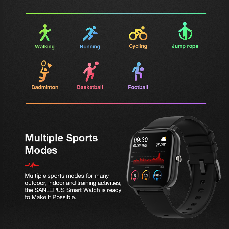 2020 Smart Watch Men Women Heart Rate Blood Pressure Monitor Bluetooth Connect Smartwatch Fitness for Android Watch Smart 6