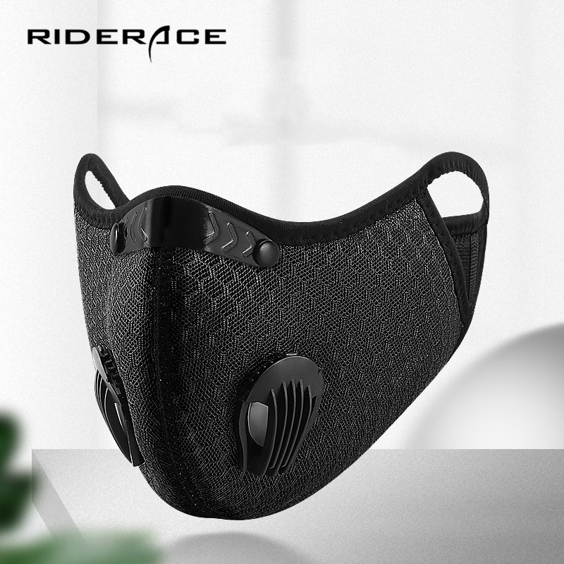 Anti-Dust Cycling Face Mask Anti-Pollution Filter With Valve PM2.5 Activated Carbon Washable Bicycle Protective MTB Bike Mask