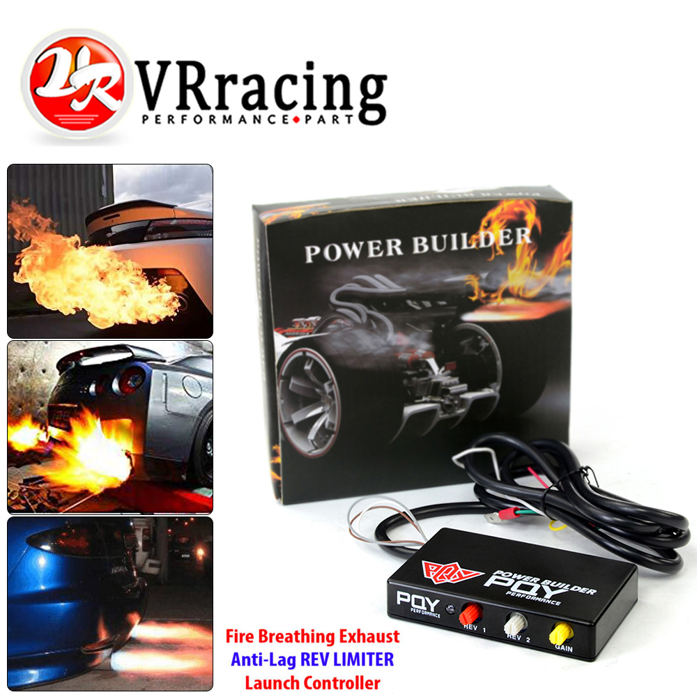 VR - Power Builder Type B Rev Limiter Racing Exhaust Flame Thrower Kit Ignition Rev Limiter Launch Control Fire Controller Kits