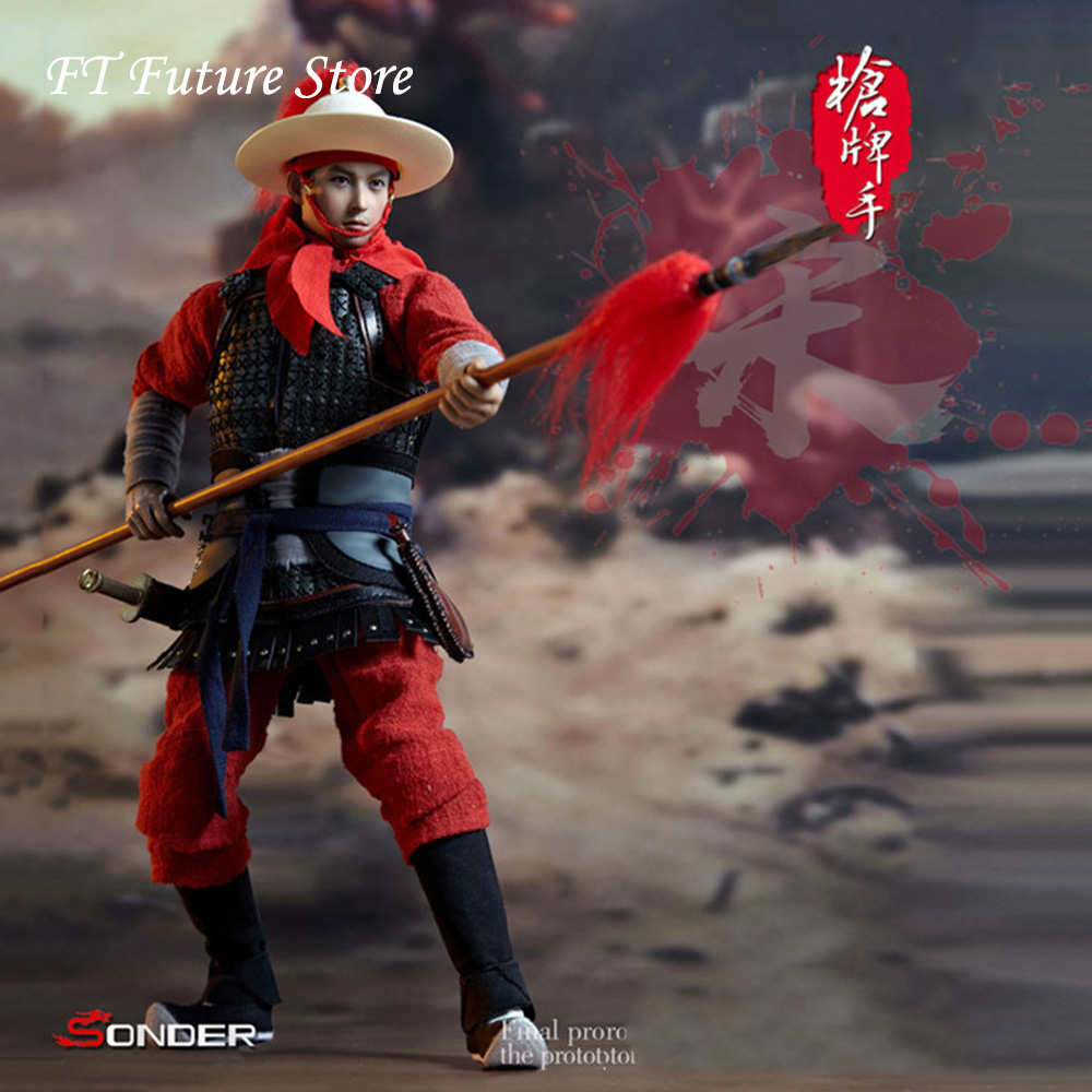 SD001 1/6 échelle hommes soldats de chanson dynastie Collection figurine d'action Yue Jiajun pistolet joueur modèle pour les Fans cadeaux de vacances