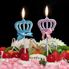 Cute Birthday Candle New Girls Kids Birthday Numbers Candle Party Crown Smoke-free Cake Candles for for Cake Party Supplies 6pc lot golden candle for wedding cake decoration pencil cake candle birthday party decoration kids adult party supplies