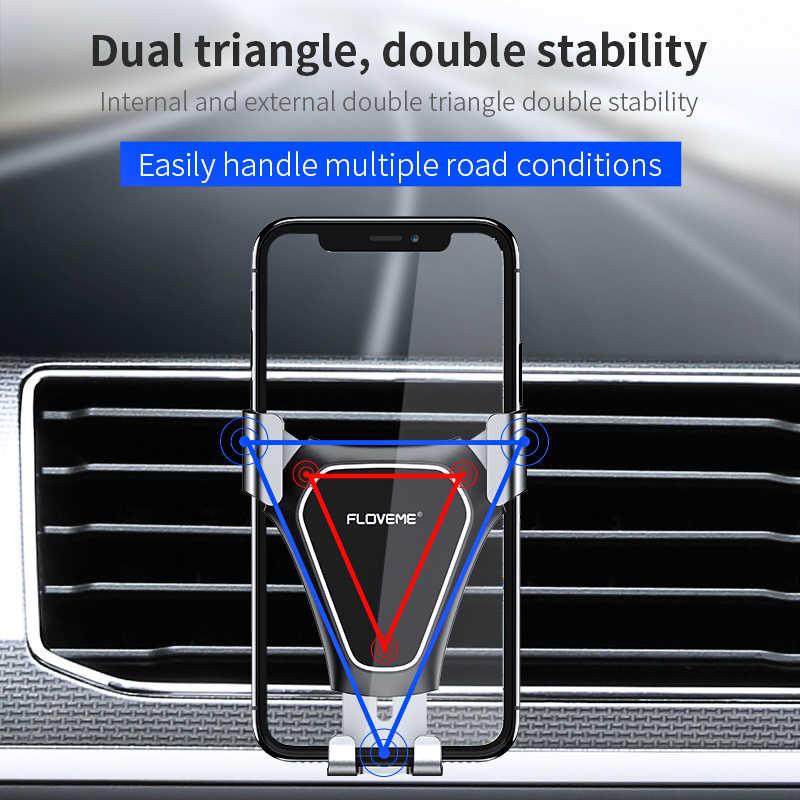 FLOVEME Gravidade Suporte Do Telefone Do Carro Air Vent Mount Car Phone Holder Suporte Para Telefone Celular No Carro Auto Para O Telefone Móvel Suporte para Carro