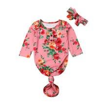 Новинка, 2 предмета, детские пеленки с цветами для маленьких девочек, одеяло, спальный мешок, 0-6 м