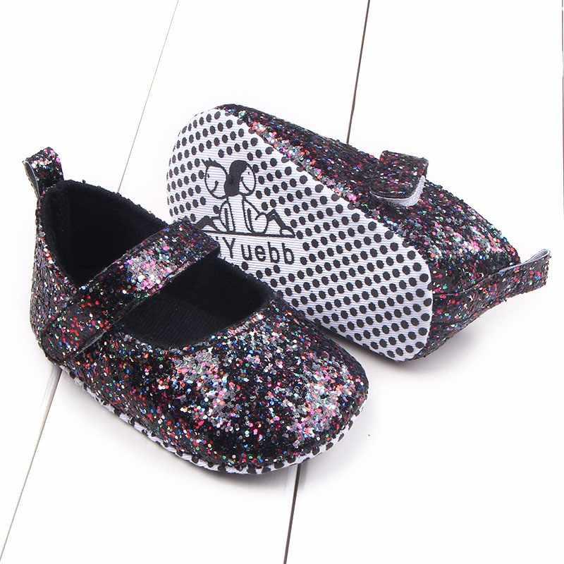 תינוק בנות כותנה פעוט נצנצים תינוק רך בלעדי נעלי רך תחתון Bebe בנות ראשון נעלי הליכון