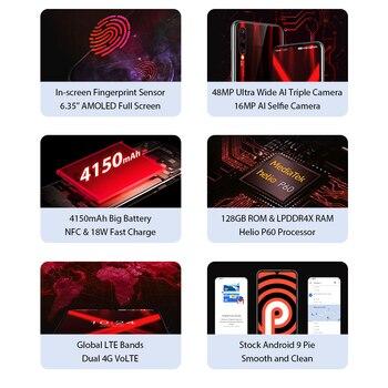 "Global Version UMIDIGI X In-screen Fingerprint 6.35"" AMOLED 48MP Triple Rear Camera 128GB NFC Helio P60 4150mAh Cellphone 1"