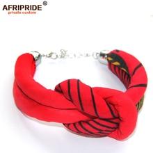 2019 Women`s Bracelets African Wax Fabric Print Ankara Jewelry Handmde Accessories Gift for Women Girls AFRIPRIDE A1928004