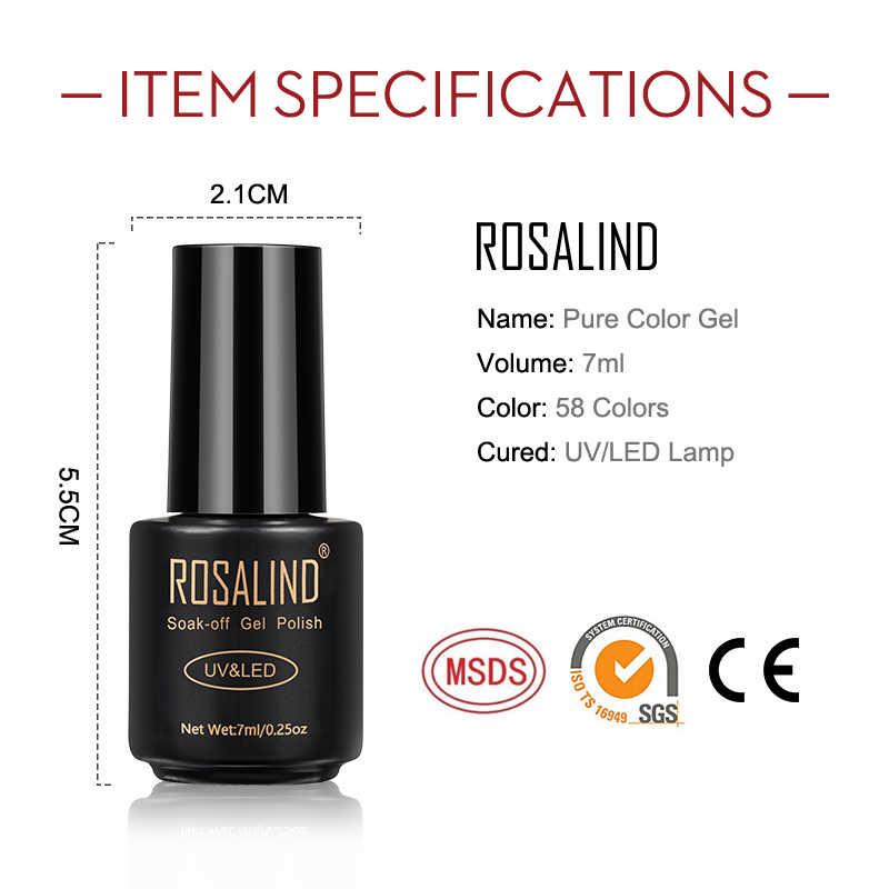 ROSALIND-Conjunto de geles para pulido de uñas, esmalte de uñas en Gel artístico para manicura, base blanca, Gel UV semipermanente, laca híbrida