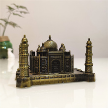Taj Mahal Model Indian Landmark Building Architecture Suveniour Home Decoration Metal Iron Gift Craft YWSM14