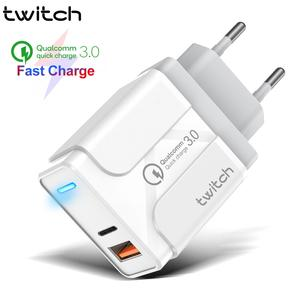 Twitch Phone-Adapter Supercharger Us-Eu-Uk-Plug Xiaomi Huawei PD USB for 11 36W