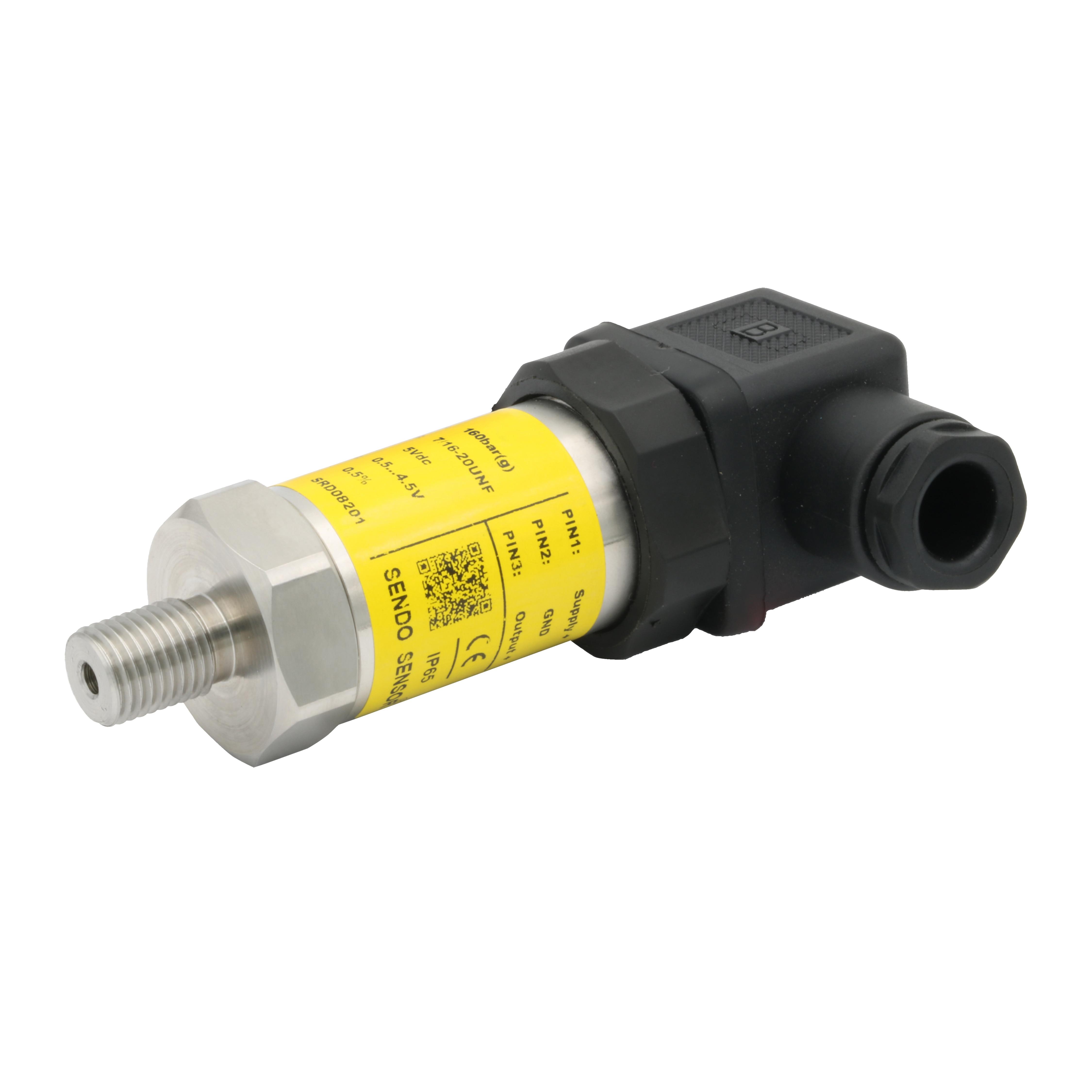 7/16 20 UNF thread  5V pressure sensor  0.5 4.5v signal  pressure 0.35 bar  1 bar  10 bar  16 bar  25 bar  100 bar  160  400 bar|Pressure Transmitters| |  - title=