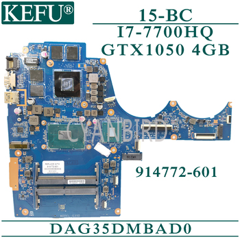 KEFU DAG35DMBAD0 original mainboard for HP 15-BC with I7-7700HQ GTX1050-4GB Laptop motherboard