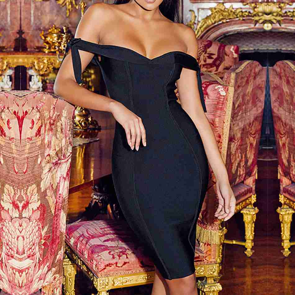 Seamyla-2019-New-Bandage-Dress-Women-Black-Vestidos-Off-The-Shoulder-Sexy-Summer-Dress-Clubwear-Bodycon (2)