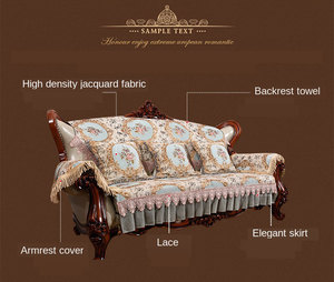 Image 4 - High quality Anti slip Sofa Cover Jacquard Lace Sofa cushioncover For Living Room 1/2/3/4 seater couch cover set custom size