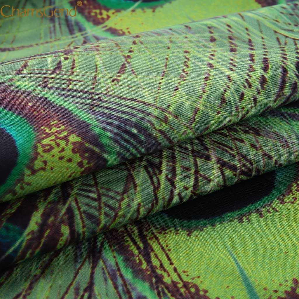 Femmes sans manches paon imprimer robes d'été grande taille robes de plage et tuniques grande taille bohême Maxi robe Boho Jul