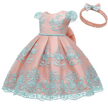 2021 New Arriva Ball gowns for Baby 3Month To 24 Month Beautiful Baby Dresses For 1 Year Birthday Party Infant Knee-Length Prom