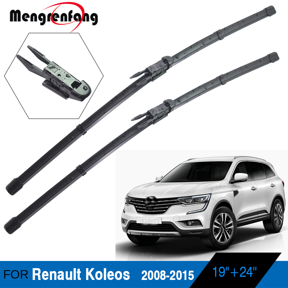 For <font><b>Renault</b></font> <font><b>Koleos</b></font> Car Front Windscreen Wiper Blades Soft Rubber Wiper Pinch Tab Arms <font><b>2008</b></font> 2009 2010 2011 2012 <font><b>2013</b></font> 2014 2015 image