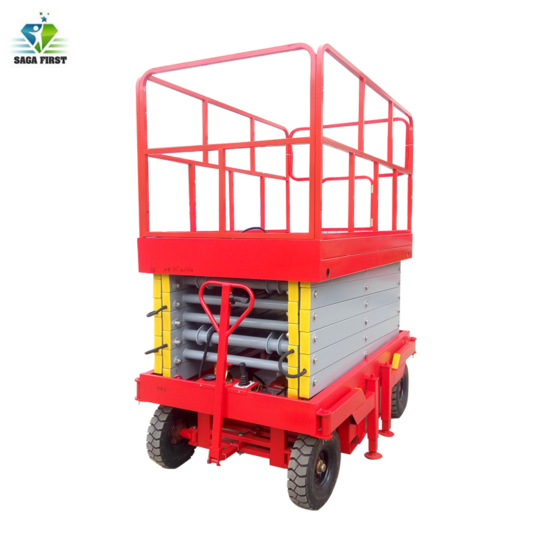 Mobile Lifting Platform Full Electric Scissor Lifter Can Be Customized