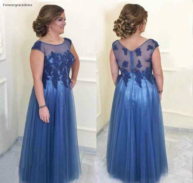 Formal Wedding Dresses.Us 125 0 2019 Elegant Blue Illusion Mother Of The Bride Dresses Formal Godmother Women Wear Evening Wedding Party Guests Gown Plus Size On