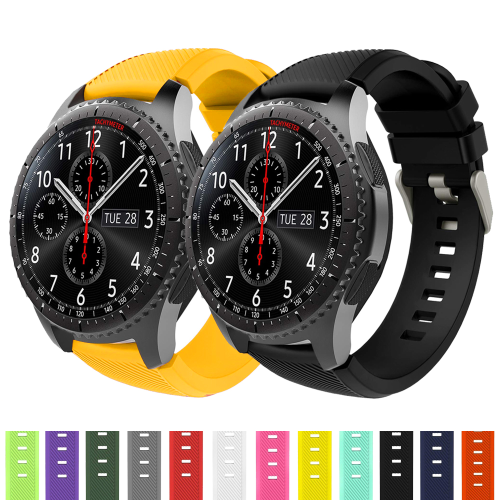 Gear S3 Frontier Strap For Samsung Galaxy Watch 46mm 22mm Watch Band Soft Silicone Watch Strap Bracelet Smart Watchband 46 Mm