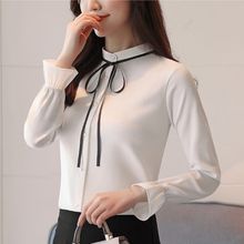 Korean Fashion Chiffon Women Blouses Flare Sleeve Pink Women Shirts Plus Size XXL Blusas Femininas Elegante Ladies Tops цена