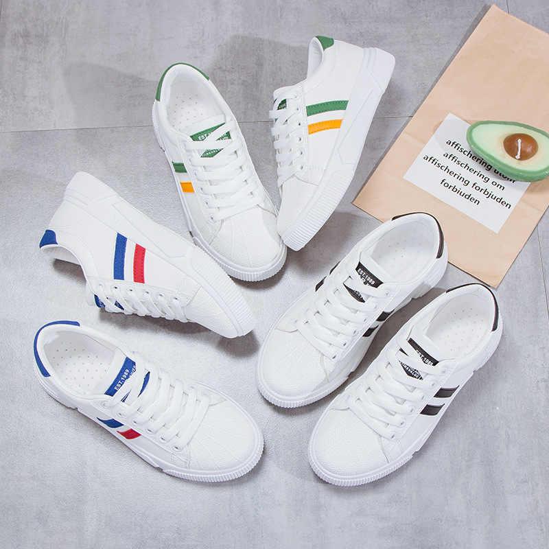 Hot 2019 Nieuwe Ademende Vrouwen Schoenen Flats Schoenen Vrouw Oxfords Fashion Sneakers Basic Gemengde Kleuren Lace-Up Espadrilles Non -slip