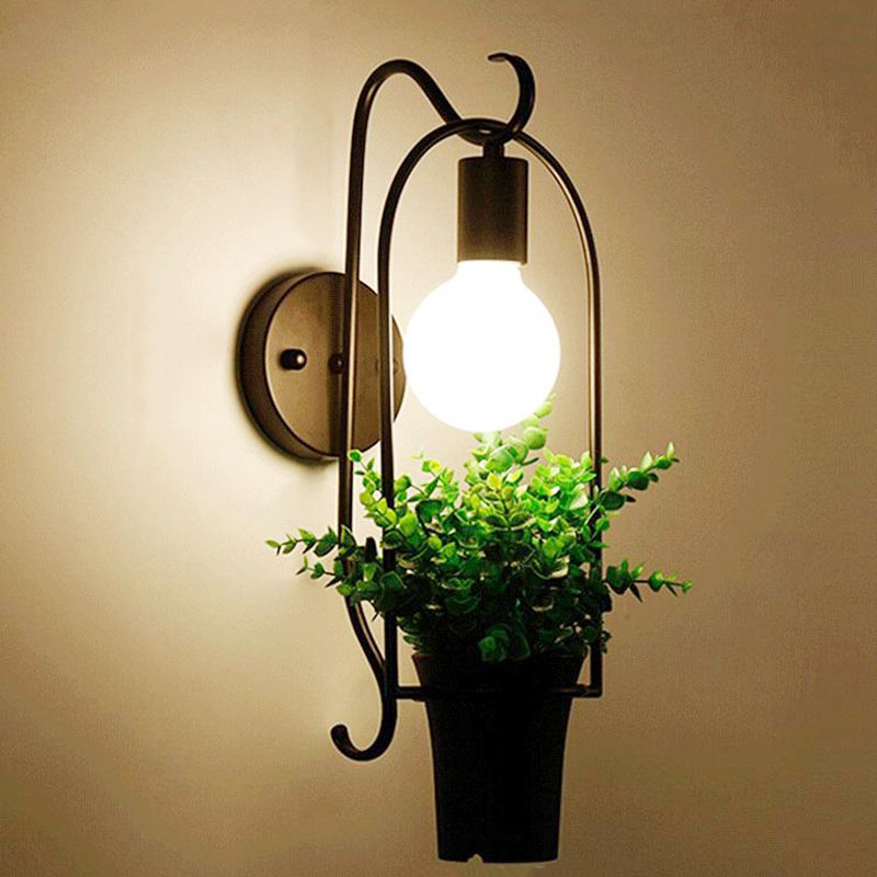 Nordic Wall Lamp Industrial Vintage Iron Wall Lamps For Living Room Bedroom Restaurant Cafe Bar Decor
