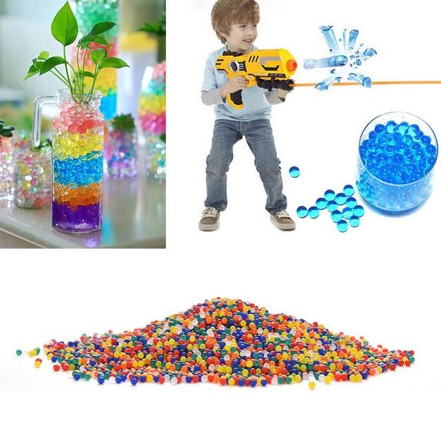 Abbyfrank Water Bullet Paintball 1 Bottle & 20000Pcs Color Soft Gun Bullet Gun Accessories Balls Crystal Mud Soil Toy