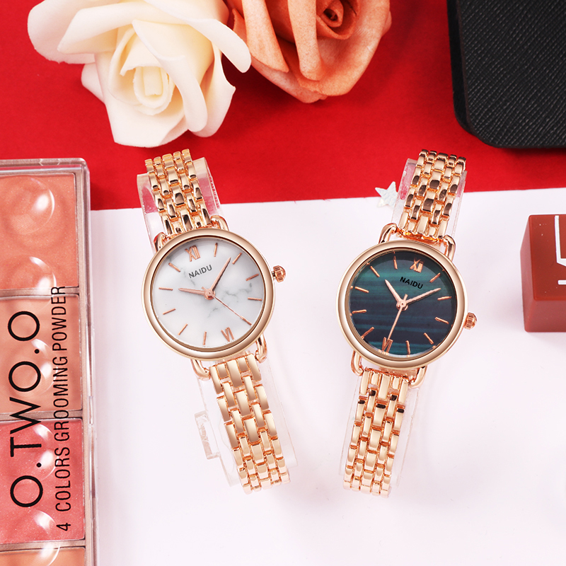 Women Watches New NAIDU Rose gold Silver Ladies Bracelet Watch womens quartz dress wristwatch feminino reloj