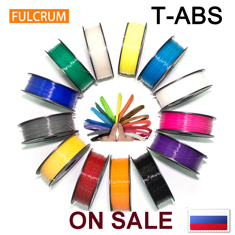 New improved ABS ,T-ABS ( Higher Strength ) 3D printer filament 1.75mm 15 colors 3D printer consumable / Shipping from Russia