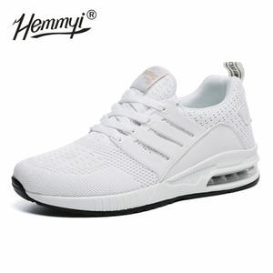 Image 4 - Женские кроссовки, сетчатые, дышащие, Basket Femme, на воздушной подушке, для пары, повседневная обувь, унисекс, Tenis Feminino, размеры 36 45, весна/осень