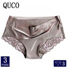 3pcs/lot QUCO Brand sexy Women Underwear High Quality Women Panties Seamless Underwear Solid  Lingerie underwear women