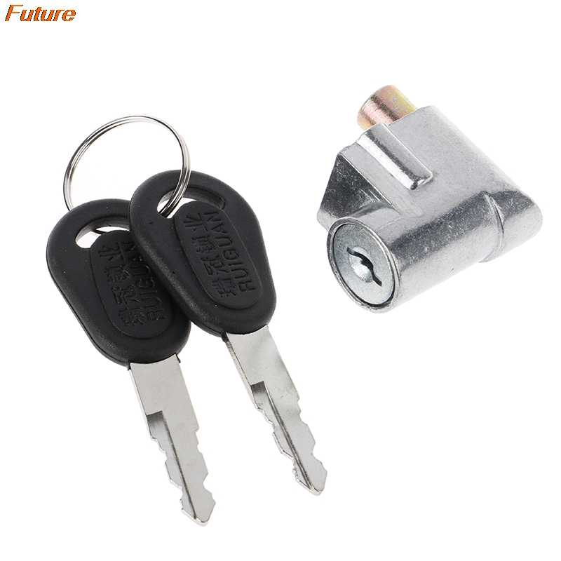 Universal Battery Chager Mini Lock with 2 keys For Motorcycle Electric Bike od