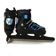 1 זוג למבוגרים חורף קרח להב גלגיליות כדור סכין מהירות החלקה נעלי מתכוונן עמיד למים תרמית קרח הוקי החלקה למתחילים