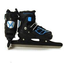 Patines de invierno con cuchilla de hielo para adultos, zapatillas de patinaje de velocidad ajustables, impermeables, térmicas, para principiantes, 1 par
