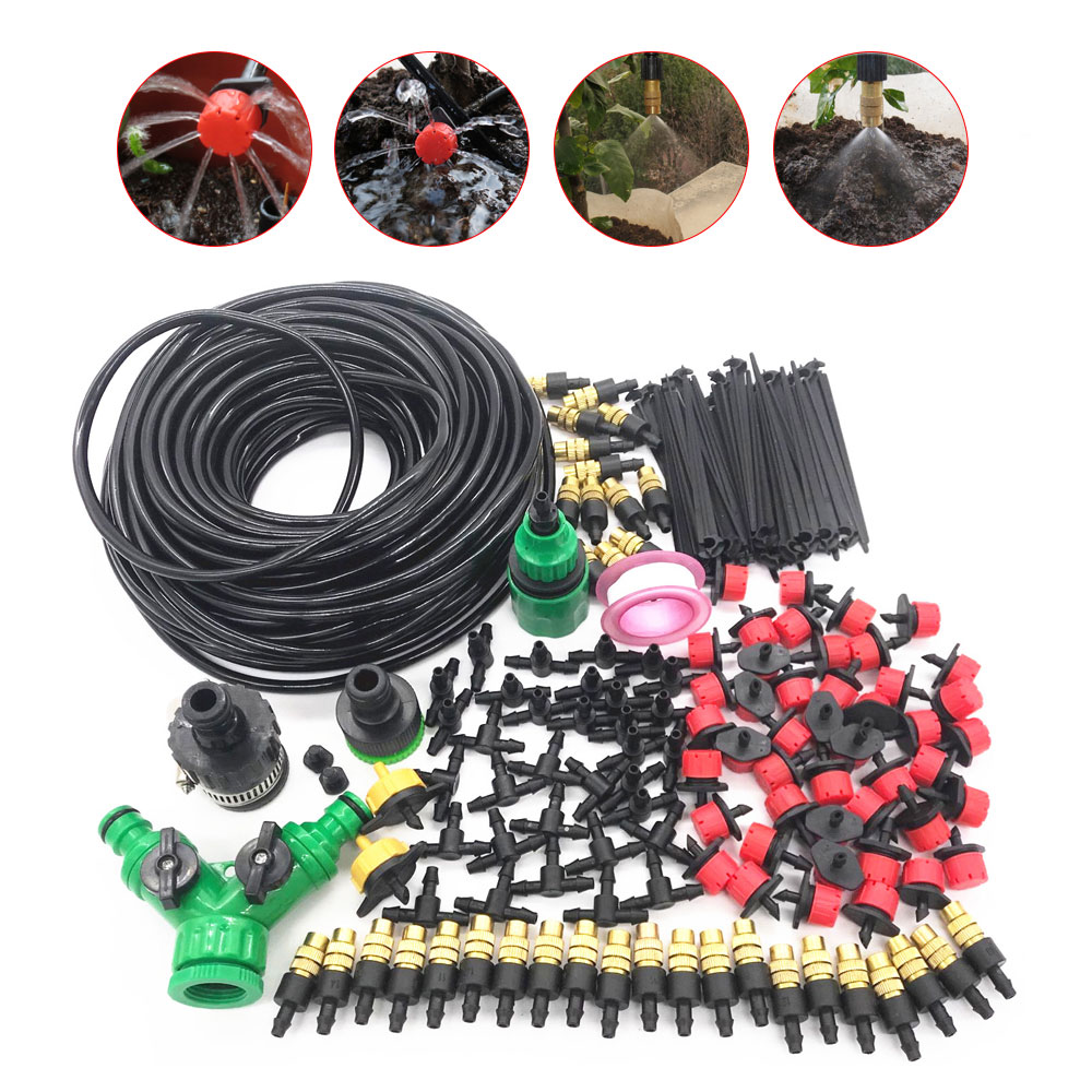 10-20M 4/7 To 3/5MM With 1/4 1/8'' PVC Hose Bend Micro Driping Irrigation System Garden Bonsai Plant Dripper Watering Kits