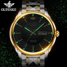 OUPINKE Sapphire Automatic Watch men tritium watch