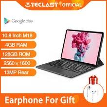 Tablet Teclast M18 da 10.8 pollici MTK HelioX27 OctaCore 2.5K 2560 × 1600 Display IPS 4GB RAM 128GB ROM 13MP posteriore 5MP rete 4G anteriore