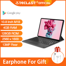 Teclast M18 10.8 Inch Tablet MTK HelioX27 OctaCore 2.5K 2560×1600 IPS Display 4GB RAM 128GB ROM 13MP Rear 5MP Front 4G Network