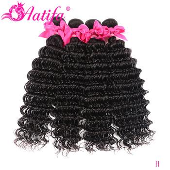 Peruwiański włosy mocno falowane w stylu brazylijskim wiązki 100 ludzkie włosy wyplata 1 3 4 sztuka naturalne kolorowe włosy typu Remy rozszerzenie 8-28 Cal Aatifa włosy tanie i dobre opinie Remy włosy Głęboka fala = 15 Peruwiański włosów Ciemniejszy kolor tylko Przestawianie Tkactwo Ludzki włos Maszyna wątek dwukrotnie