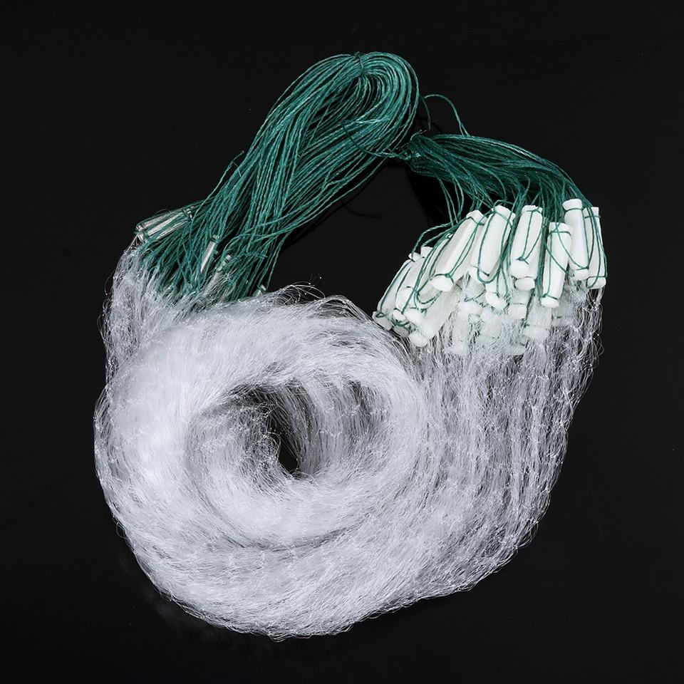 Fishing Fish Mesh Trap Nylon Monofilament Gill Net With Float Fishing Net 20M