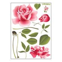 Розы наклейки на стену Съемная наклейка домашний декор diy художественное