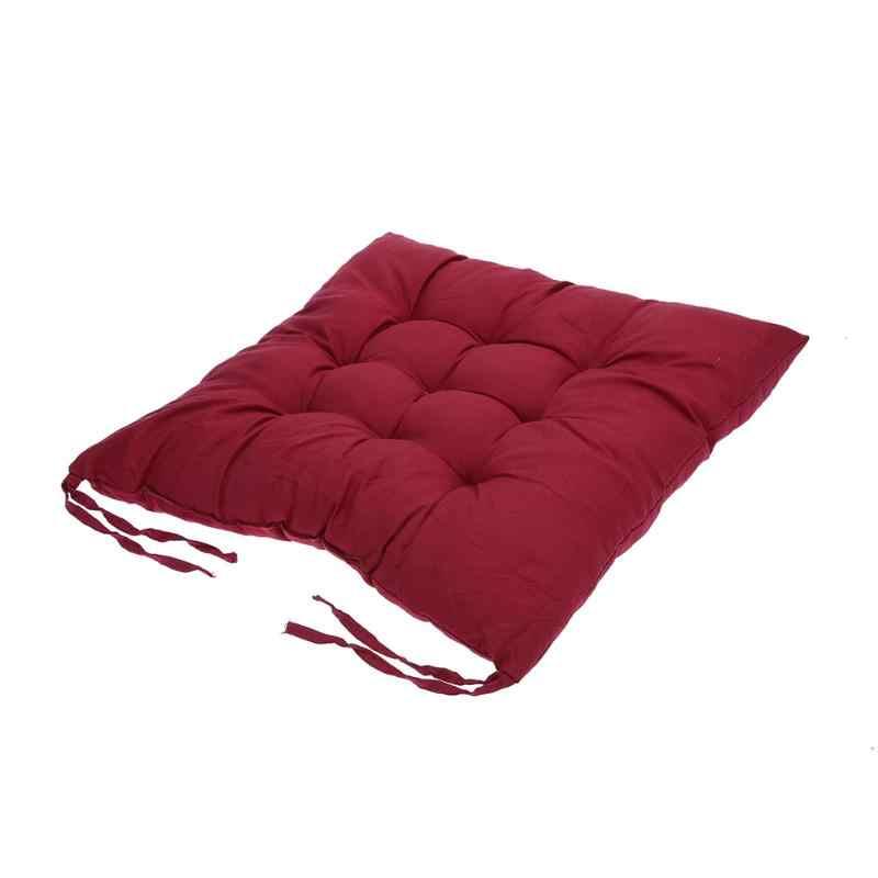 Miękka wygodna bawełniana poduszka do siedzenia zima Home Office Bar poduszka na krzesło akcesoria do wnętrza samochodu pogrubienie utrzymuj ciepło Dropship