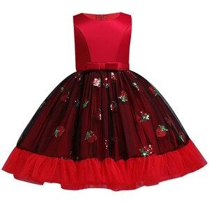 Image 3 - Вечерние платья с вышивкой для девочек; Платье с цветами и бусинами для девочек; Одежда для свадьбы; Вечерние платья; Детский костюм Pengpeng Show