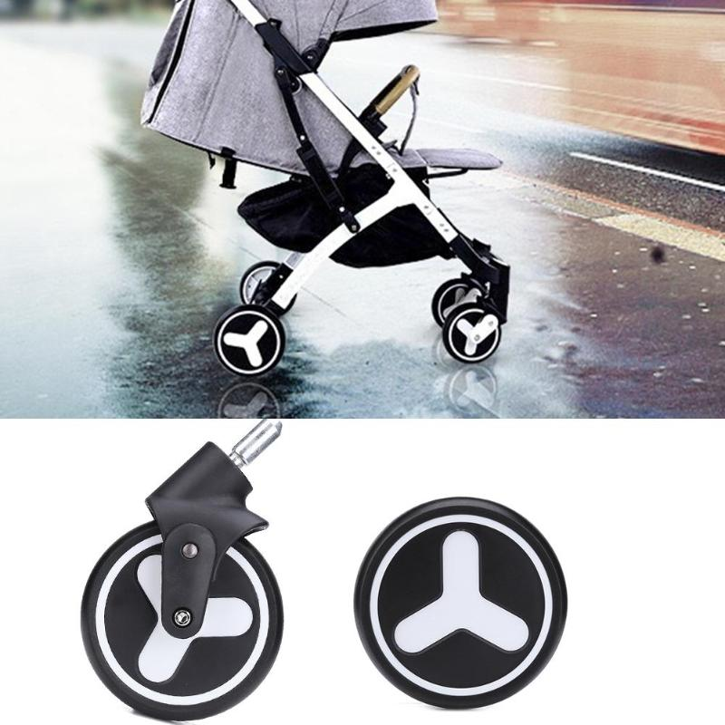 Baby Cart Wheel Original Stroller Accessories Excellent PU Rubber Leather Front Rear Wheels Trolley Suitable For Yoya Plus 2/3/4