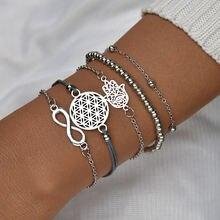 5 шт модные браслеты fatima hand & evil eye для женщин богемные