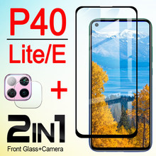 glass p40 light protective screen protector for huawei p 40 lite E tempered glas hauwei p40lite p40e with camera lens film 2in1(China)